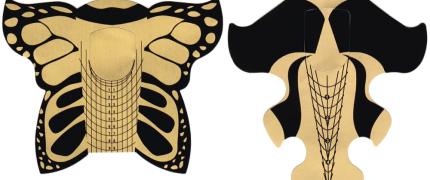 Banner med link til negleskabeloner til forlængelse af negle med akryl gele og buildergel