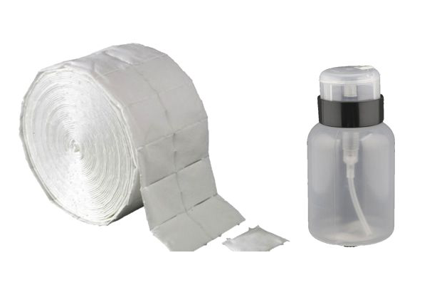 banner link til nailwipes nailpads og pumpeflasker til cleanser og remover