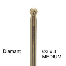 Bit diamant 3 x 3 - kugle