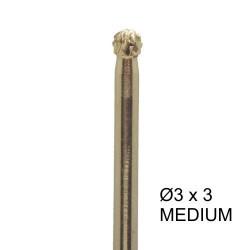 Bit carbide 3 x 3 - kugle