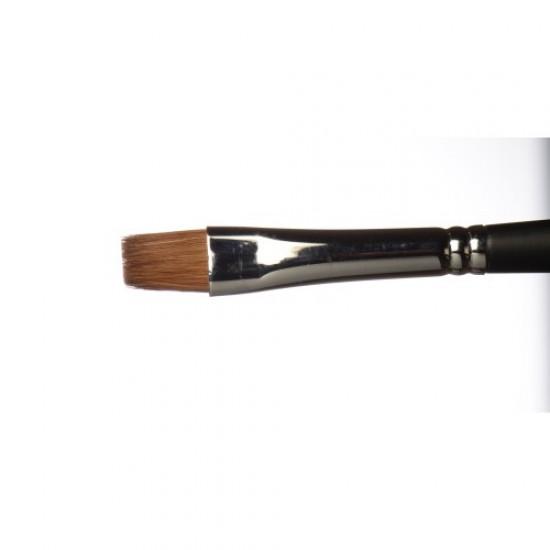 PRO Øjenskygge pensel Flad 8mm. (mink)