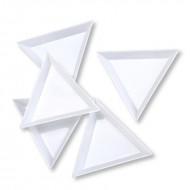 Trekantet skål hvid plast