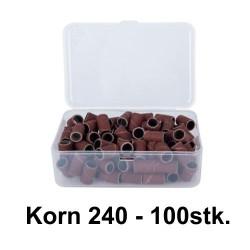 sliberør BRUN korn 240 BOX100