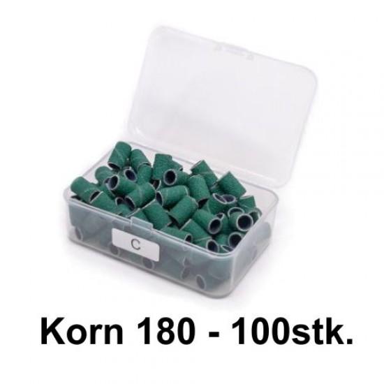grønne sliberør korn 180 til elektrisk neglefil