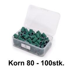 sliberør GRØN korn80 BOX100
