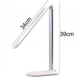 LED 7-10W arbejdslampe hvid og alu