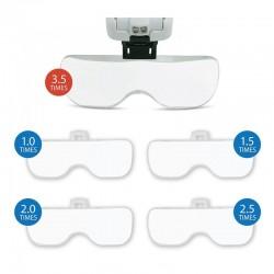 Forstørrelsesbrille med LED lys