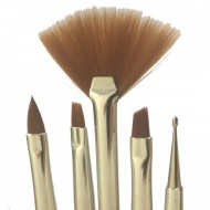 Negle pensel sæt med vifte og dottingpen