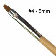 Negle pensel #4 5mm beige