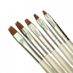 Negle pensel sæt perlemor 5stk #2-10