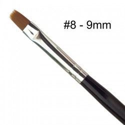 Negle pensel #8 9mm sort